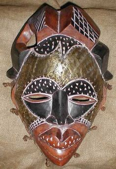 African female mask of the Tikar people from Cameroon.