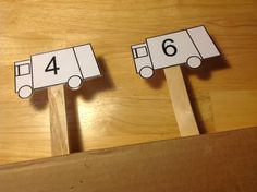 This activity uses garbage truck to help preschoolers practice identifying numbers. Garbage Truck Number Recognition includes a free printable. Printable Numbers, Printable Cards, Free Printable, Community Workers, Community Helpers, Preschool Transportation, Number Recognition, Garbage Truck