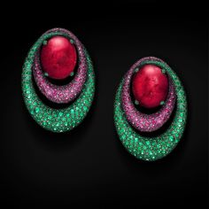 The perfect #MelodyOfColours - Rubelites, Pink Sapphires and Emeralds #deGRISOGONO