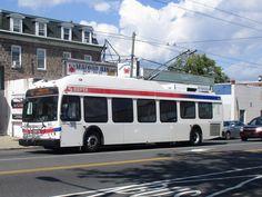 SEPTA New Flyer trackless trolley on New Flyer, Philadelphia, Travel, Viajes, Traveling, Trips, Tourism, Philadelphia Flyers