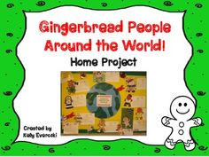 Free: Are you teaching a Christmas Around the World unit in your classroom? If the answer is yes, this is the perfect addition!    This home project asks your students to choose a country and decorate their gingerbread person accordingly!   It includes:  * parent letter w/ suggested web resources  * gingerbread man printable template  * SUPER CUTE boarding pass sheet for creative response!  * Bulletin Board Idea