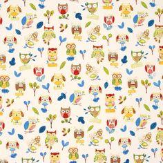 Ollie Owl Curtain Fabric
