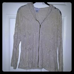 Laced cover with hoodie Super cute over bathing suit Sweaters Cardigans