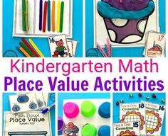 Place Value Worksheets and Games for Kindergarten #placevalue #kindergartenmath #mathgames #kindergartenworksheets #placevaluegames #placevalueworksheets