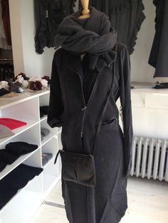 Go Silk moto dress, Hartford scarf, and 49 Square Mile pouch.
