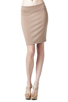 Women'S Ponte Roma From Office Wear to Casual Above Knee Pencil Skirt - Solid