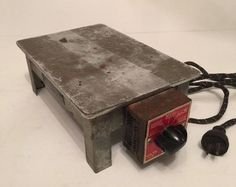 "Vintage Millinery Item Hatters Supply House ""Electric Hot Plate"" Model AR-10"