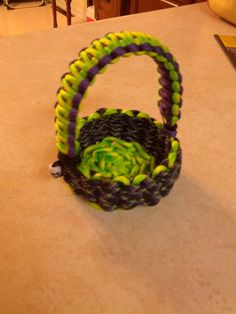 Zombie easter basket with skull bead. I'll be posting the steps soon on how I make these for those who have asked me.
