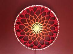 Crocheted Sunburst Mandala Hanging Decoration £12.50