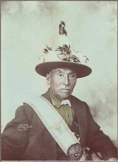 Yakama Chief White Swan, Washington, 1900 :: American Indians of the Pacific Northwest -- Image Portion