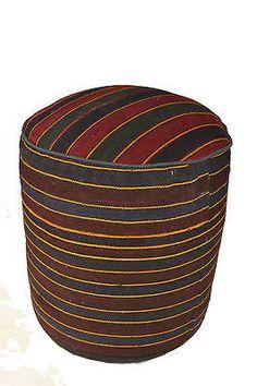 Rug Pouf / Rug Sitting Stool / Rug Ottoman / Kilim Sitting Stool / Stools # 8