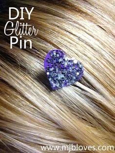 project 14 of 33 : glitter bobbi pin.