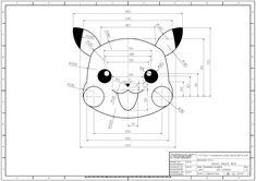 학습도면 > 2D 연습도면 > 오토캐드 연습도면 - 802(피카츄) : 네이버 블로그 Isometric Drawing Exercises, Autocad Isometric Drawing, Autocad Layout, Architecture Drawing Plan, Landscape Architecture, Solidworks Tutorial, Interesting Drawings, Drawing Machine, Geometric Drawing