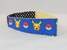 Fabric Headband Made With Pokemon Inspired Fabric