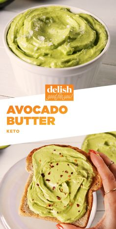 Keto dieters are putting this Avocado Butter on EVERYTHING. Get the recipe at Delish.com. #avocado #butter #keto #ketodiet #ketogenic #ketogenicdiet