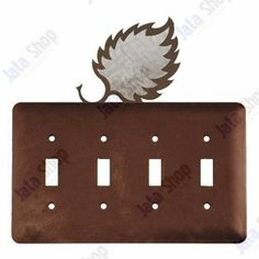 Hummingbird Double Toggle Metal Switch Plate Cover
