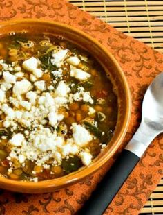 Slow Cooker Vegetarian Greek Lentil Soup with Tomatoes and Spinach is delicious with a sprinkle of Feta and this tasty meatless soup is low-glycemic, gluten-free and South Beach Diet friendly! Use the Diet-Type Index to find more recipes like this one. Click here to PIN this tasty soup so you can make it later! Click here for Slow…