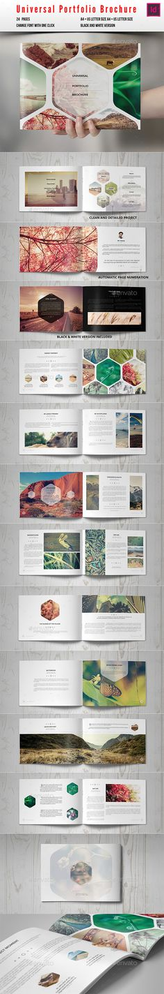 Universal Portfolio Brochure / Catalog - Photo Albums Print Templates