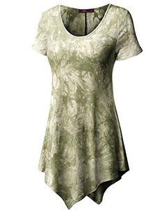 Doublju Women Unique Designed Tie Dyed Short Sleeve T-Shirt OLIVE,S Doublju http://www.amazon.com/dp/B00ZWC7G7Q/ref=cm_sw_r_pi_dp_Rvs1vb1Z5WTPG