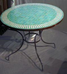 artetsud.com Table Zellige 100cm RAYÉ V1HE