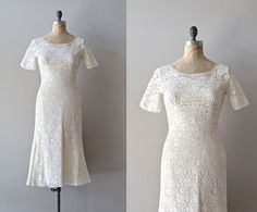 Lace 1950s wedding dress | $465.00 | Lovely silhouette ... measurements are perfect ...