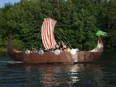 Pontoon boat turned into a Viking Ship - Google Search