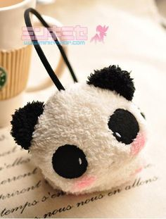 kawaii panda earmuffs......I have this exact design on my new tote bag!