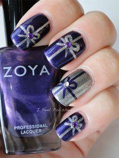 christmas presents nail art | ... Xmas Nails 2 12 Easy Christmas Present Nail Art Designs, Ideas, Trends