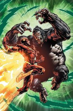 The Flash vs Gorilla Grodd by David Finch Arte Dc Comics, Flash Comics, Dc Comics Heroes, Dc Comics Characters, Marvel Comics, Comic Book Artists, Comic Books Art, Univers Dc, By Any Means Necessary