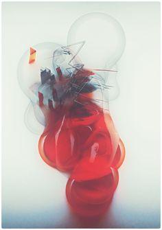 Glitch bubbles by atelier olschinsky , via Behance