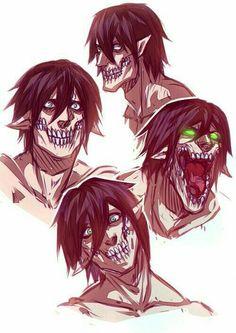 5 Anime, Fanarts Anime, Anime Shows, Anime Guys, Anime Fan Art, Attack On Titan Comic, Attack On Titan Fanart, Attack Titan, Erin Attack On Titan