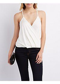Draped V-Neck Tank Top