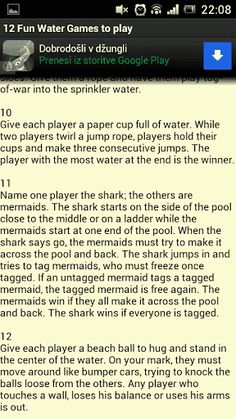 Summer time is cooming, weather is getting hotter and hotter. Your kids will finish with education in about a month or two. Are you looking for water games to play with your kids? Your kids will love these 12 games to play in the water.  Our games include