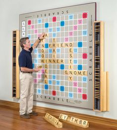This version may come with a hefty price tag, but how about creating a giant scrabble board for a bulletin board or wall that students can play when they finish work early.