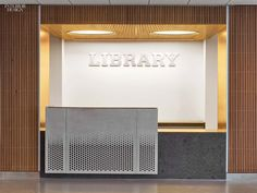 Perkins + Will Teams With Michael Fieldman for Mammoth NYC Police Academy Reception Desk Design, Lobby Reception, Reception Counter, Office Reception, Commercial Design, Commercial Interiors, Modern Office Design, Modern Offices, Office Designs