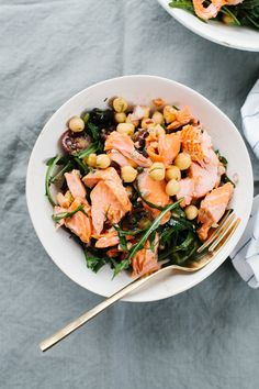 (Smoked) Salmon and Chickpea Salad [Late Summer/Early Autumn]