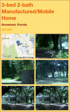 3-bed 2-bath Manufactured/Mobile Home in Groveland, Florida ►$84,000 #PropertyForSale #RealEstate #Florida http://florida-magic.com/properties/2516-manufactured-mobile-home-for-sale-in-groveland-florida-with-3-bedroom-2-bathroom
