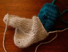 Knit two socks at the same time, one inside the other.