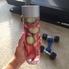 Cucumber Strawberry detox infused water is great for joints and inflammation. It is nature's natural Ibuprofen.