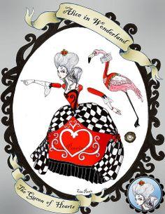 Alice in Wonderland Paper Dolls - The Queen of Hearts