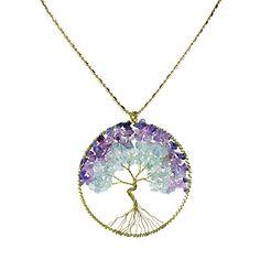 Purple Green Fluorite Stone Eternal Tree of Life Brass Necklace AeraVida http://smile.amazon.com/dp/B00NX23WAM/ref=cm_sw_r_pi_dp_CjCYub0XCBH54