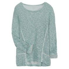 LOVE this color but maybe a little darker for Fall?  Could use more sweatshirts and I love the stitching detail and longer hem in back on this one.