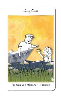 Featured Card of the Day - 6 of Cups - 78 Tarot Nautical/Tarot of the Water