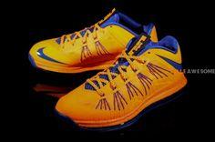 Nike Air Max LeBron X Low   Orange   Blue