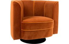 Swivel velvet armchair Flower in orange Grey Living Room With Color, Living Room Turquoise, Living Room Accents, Living Room Colors, Adirondack Chair Plans Free, Adirondack Chair Cushions, Mini Bars, Deco Furniture, Vintage Furniture