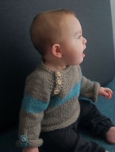 Baltic Baby Sweater by Lisa Chemery
