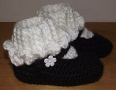 free crochet pattern for toddler slippers - Google Search