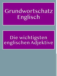Basic vocabulary: The most important English adjectives, PDF for printing - Basic English vocabulary: The most important and most common English adjectives – with list for d - Easy Hobbies, Crafty Hobbies, Vocabulary Pdf, English Vocabulary, Learning English Online, German Language Learning, Improve English, Learn English, English Textbook