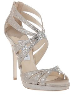 808e47ff94b Wedding Shoes · JIMMY CHOO GARLAND sandal. Much too high for me but very  pretty anyway. These