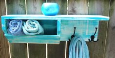 Cottage Chic Customized  Storage Shelf via Etsy for Bathroom